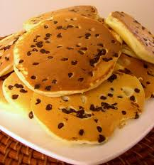 Chocolate chip pancakes for Easter