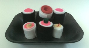 How to make play food sushi from felt