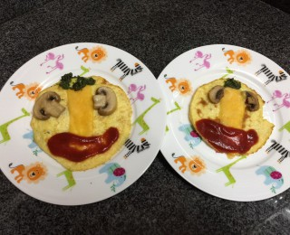 Open face omelets