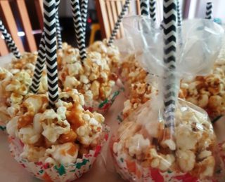 Sweet popcorn ball recipe