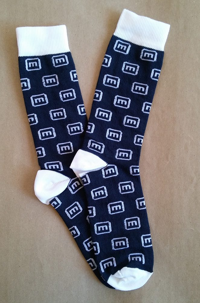 Custom woven logo socks for Mimecast
