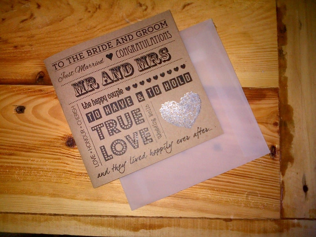 Printed-wedding-card-with-foil-heart-detail