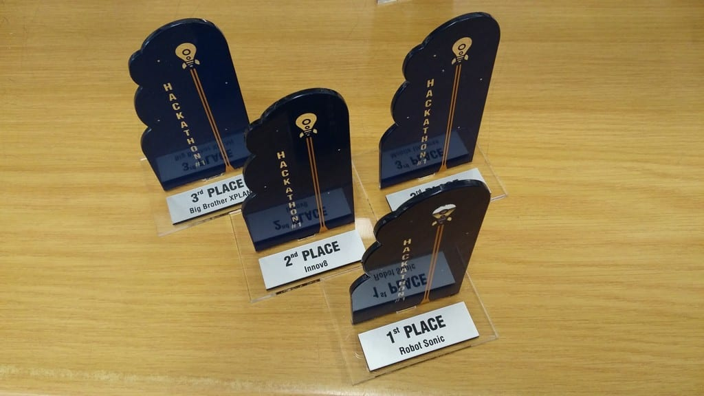 Screen-printed-Perspex-trophies-with-engraved-Rowmark-plaque