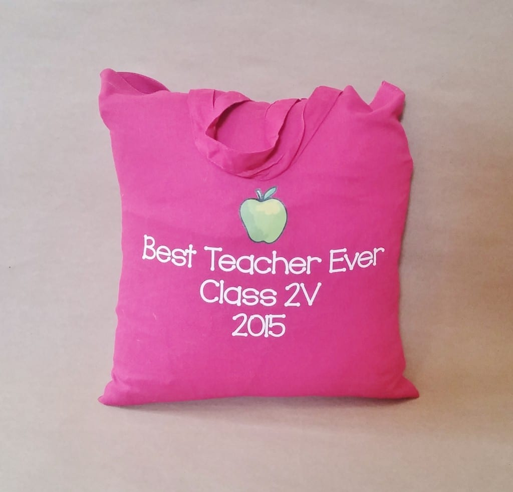 Personalised teacher appreciation gift cotton shopper bag