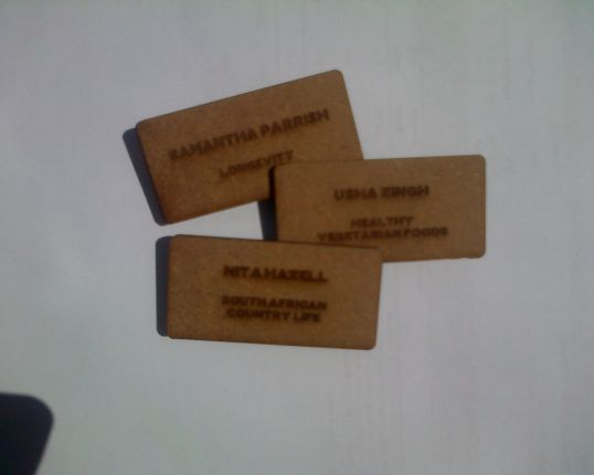 Laser Engraved Supawood Name Badges