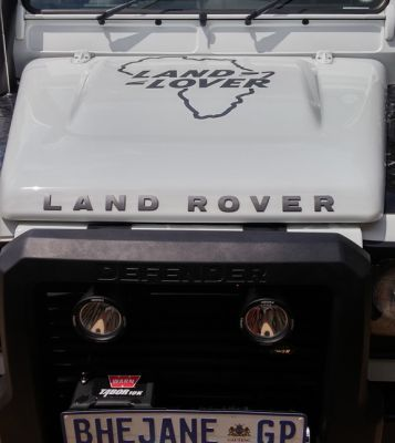 Vinyl Cut Out Decal On Land Rover